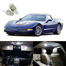 14 x Xenon White LED Interior Light Package Kit For Chevy Corvette C5 1997- 2004