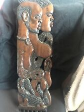 African Wall Plaque Comb Male and Female Side By Side