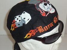 "zandana bandana ""tête de mort et dés à jouer ""  biker,harley usa,moto, choppers,"