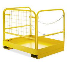 36''*29'&# 039; Forklift Work Platform Safety Cage Rust-free Safety Non-Slip On Sale