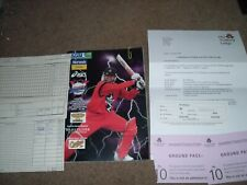 LANCASHIRE V HAMPSHIRE ONE DAY CGU LEAGUE PROGRAMME @ OLD TRAFFORD 1999 & EXTRAS