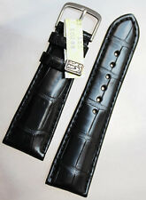 22mm/18 de longitud corta 100x70 real cocodrilo más de lo Alligator banda Black Gemany krokoband XS