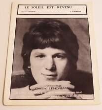 Partition vintage sheet music GERARD LENORMAN : Le Soleil est revenu * 60's