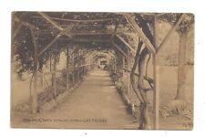 Vintage postcard Vine Walk, Santa Catalina Hotel - Las Palmas. pmk LAGOS 1911