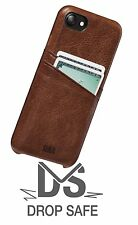 Sena Apple Iphone 7 Snap on Wallet Case Genuine Premium All Leather Cognac Cover
