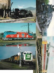 Five (5) US Railway Cards New Unused From Railcards California Lot No 4