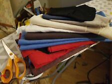 Good sized , remnants/scraps of linen and cottons .Mixed colours