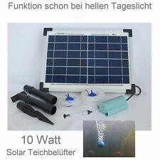 10 WATT solare aeratore da stagno Pompa Ossigeno NUOVO giardino