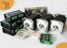 【USA Ship】3 Axis Nema 34 Stepper Motor 1090OZ-In,5.6A CNC Mill,Engraver, Cutter