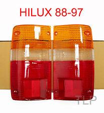 REAR TAIL LIGHT LENS LENSES LH RH PAIR TOYOTA HILUX PICKUP UTE LN85 RN85 88 - 97