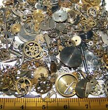 3/4 Lb.Steampunk WATCH Parts Old Pieces Steam Punk Cogs Gears Wheels Vintage Lot
