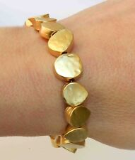 Exclusive Hammered Yellow Gold 24K Plated Nuggets Bracelet T bar