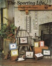 New listing The Sporting Life Vintage Cross Stitch Pattern Book 1 Ducks, Birdhouse, Sailfish