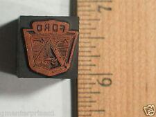 "Ford Printers Block Vintage Letterpress Vintage (3/4"")"