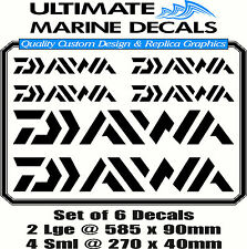 Daiwa Fishing Boat Sticker Decal Marine Set of 6