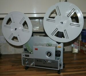 ELMO ST 1200 HD mag sound super 8 projector MINT & RARE See video of it working