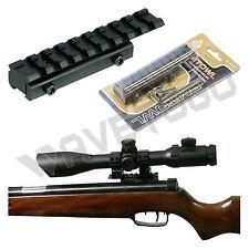 """UTG Low Profile Airgun .22 Picatinny Weaver Rail Adaptor 3.9"""" 9 Slots Aluminum"""