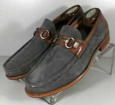 242009 MSi60 Men's Shoes Size 10 M Gray Suede Made in Italy Johnston Murphy