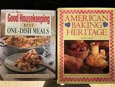Lot 2 cookbooks. Good House Keeping One-Dish Meals & American Baking Heritage