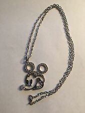 NEW SSP MICKEY MOUSE PENDANT AND CLEAR GEMSTONES & SSPCHAIN--N56