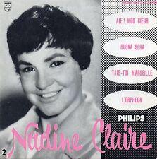 """NADINE CLAIRE. AIE ! MON COEUR. BUONA SERA. RARE FRENCH GIRL EP 7"""" 45 1958"""