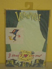 VILLAIN VILLE - Stationery Set - EVERETT PECK - 8 Letter 6 ENVELOPES Stickers