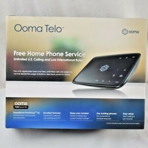 Ooma Telo Free Home Phone Service VoIP Phone PUREVoice HD In Box Fast Shipping