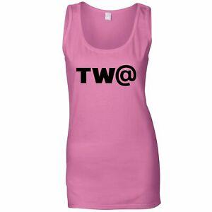 TW@ Ladies Vest Offensive Swearing Symbol Joke Rude Profanity Gift Idea Top