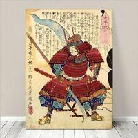 "Awesome Japanese SAMURAI WARRIOR Art CANVAS PRINT 36x24""~ Kuniyoshi  #070"