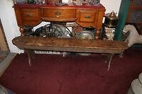 """Antique Early American Pine Wood Church School Bench-78"""" Long-Country Decor"""
