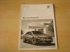 50554) VW Passat CC technische Daten & Ausstattung Prospekt 05/2008