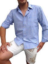 47-48 Herren-Trachtenhemden mit Klassischer Kragen aus Baumwolle