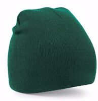 Brand New Mens,Womens Beechfield Beanie Hat Winter Knitted One Size 15 colours