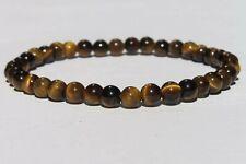Bracelet en Oeil de Tigre pierres polies 4 mm Lithothérapie Protection
