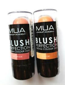MUA BLUSH PERFECTION CREAM COLOUR DUO choose a shade