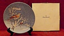 "1971 Haviland Limoges ""Two Turtle Doves"" 12 Days of Christmas Noel Plates"