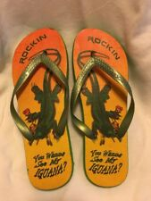 Rockin' You Wanna See My Iguana Flip Flops 9