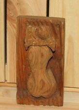 Antique hand carving wood wall hanging nude woman back figurine