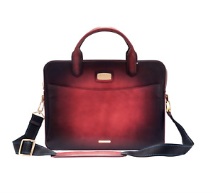S.T. Dupont Briefcase, Atelier Red Leather, 191221, New In Box