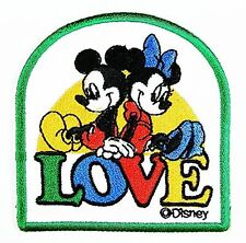 Mickey Mouse LOVE MINNIE embroidered Iron On / Sew On Patch/Applique