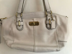 Coach Chelsea Parchment Small Top Handle Leather Bag