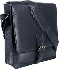 UNICORN Bolsa de cuero genuino - iPad, Tablet accesorios Bolsa - Negro #1F