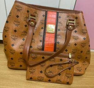 Authentic MCM Brown Visetos Shopper Bag