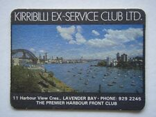 KIRRIBILLI EX-SERVICE CLUB 11 HARBOUR VIEW LAVENDER BAY 9292245 NOTES COASTER