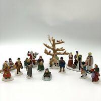 Lot Of Miscellaneous Christmas Winter Scene Decorative Figurines