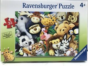 Jungle Animal Babies Ravensburger quality 35 piece Animal puzzle for kids New