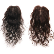 Wavy Curly 100% Human Hair Topper Hairpiece Toupee Top Piece For Women