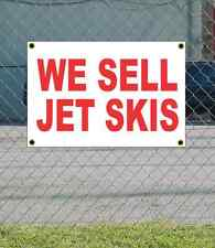2x3 WE SELL JET SKIS Red & White Banner Sign NEW Discount Size & Price FREE SHIP