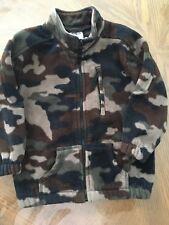 Toddler Boy's Fleece Camoflage Zipper Jacket Size 4T