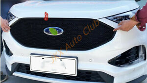 Black Honeycombt Grille Cover Trim For Ford Edge 2019 20 2021 Upgrade New Look
